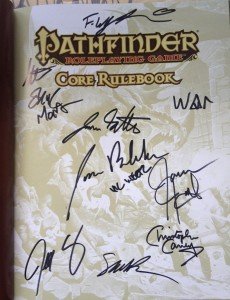 Pathfinder Autographs
