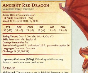 5E: Ancient Red Dragon