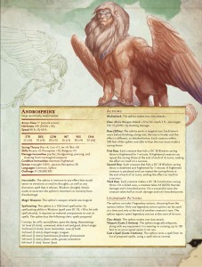 5E: Sphinx Info