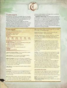 5E: Tarrasque Info